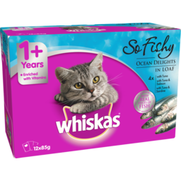 Photo of Whiskas Cat Food So Fishy Ocean Delights 85g 12 Pack