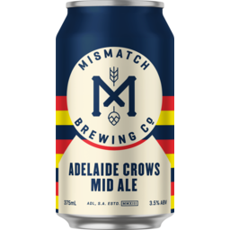 Photo of Mismatch Brew Adelaide Crows Mid Ale Can