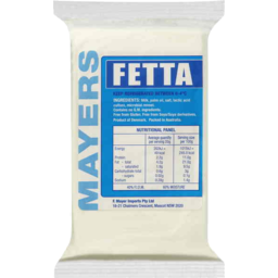 Photo of Mayer Fetta Cheese 220gm