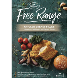 Photo of Inghams Free Range Chicken Breast Fillet Coated With A Ciabatta & Parsley Crumb 300g