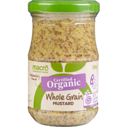 Photo of Macro Organic Mustard Wholegrain 200g
