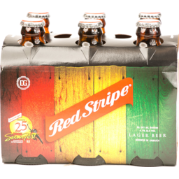 Photo of Red Stripe Jamaican Style Lager Beer Bottles - 6 Ct