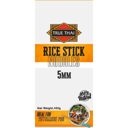 Photo of True Thai Rice Stick Noodles 5mm 400g