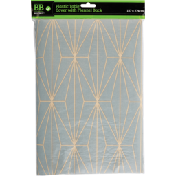 Photo of Best Buy Table Cover Plastic Asst 1pk