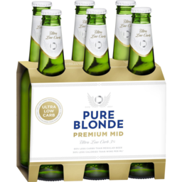 Photo of Pure Blonde Premium Mid Ultra Low Carb 6 X 355ml Bottles