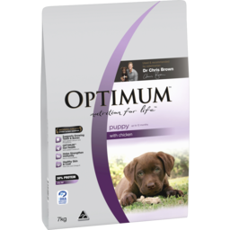 Photo of Optimum Puppy Dry Dog Food Chicken 7kg Bag