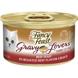 Photo of Fancy Feast Adult Gravy Lovers Beef Feast In Roasted Beef Flavor Gravy Wet Cat Food 85g