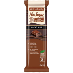 Photo of Well Naturally Nsa Milk Chocolate Creamy Milk 45g