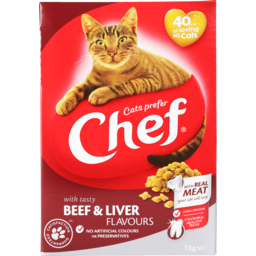 Photo of Chef Dry Cat Food Beef & Liver 1kg