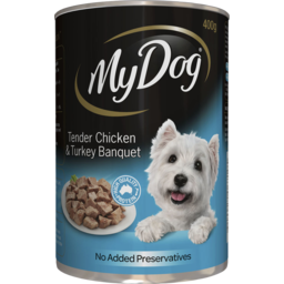 Photo of My Dog Tender Chicken & Turkey Banquet 400g