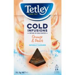Photo of Tetley Cold Infusions Orange & Peach 14pk