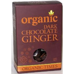 Photo of ORGANIC TIMES:OT Dark Chocolate Ginger 150g