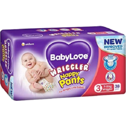 Photo of Babylove Wriggler Nappy Pants 38pk