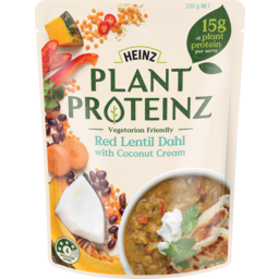 Photo of Heinz Plant Proteinz Red Lentil Dahl Coconut Cream 330g