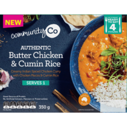 Photo of Community Co. Authentic Butter Chicken Cumin Rice 350g