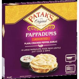 Photo of Pataks Assorted Pappadum 100g