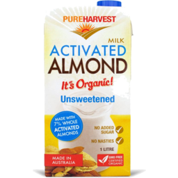 Photo of Pureharvest Activated Almond Milk - Unsweetened