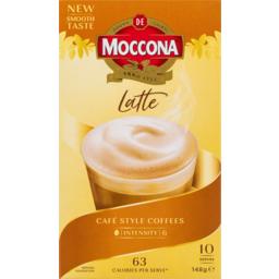 Photo of Moccona Latte Cafe Style Coffee Satchets 10 Pack 148g