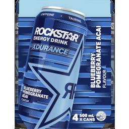 Photo of Rockstar Energy Drink Xdurance Blueberry Pomegranate Acai 4x500ml