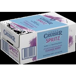 Photo of Vodka Cruiser Spritz Summer Berry Can 275ml 24 Pack