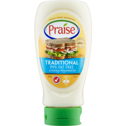 Photo of Praise Traditional 99% Fat Free Mayonnaise 555gm