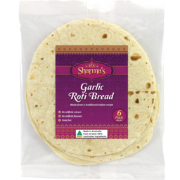 Photo of Sharma's Garlic Roti Bread 6PK 280G