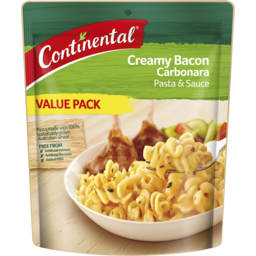 Photo of Continental Pasta & Sauce Creamy Bacon Carbonara Value Pack 145g 145g