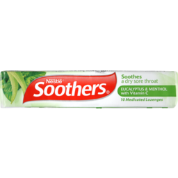 Photo of Soothers Lozenges Eucalyptus & Menthol 10 Lozenge Stick