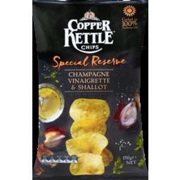 Photo of Copper Kettle Special Reserve Potato Chips Champagne Vinaigrette Shallot 150g