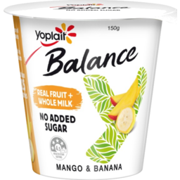 Photo of Yoplait Yoghurt Balance Mango & Banana 150gm