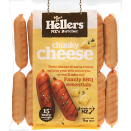 Photo of Hellers Sausages Chunky Cheese Prepack 1kg