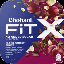 Photo of Chobani Fit X No Added Sugar Black Forest Burst Yogurt 140g