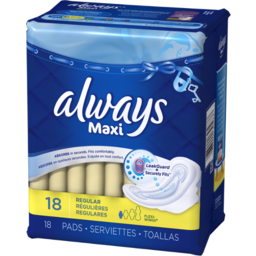 Photo of Always Maxi Regular With Wings, Unscented Pads 18 Count