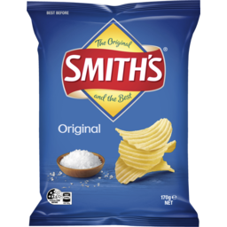 Photo of Smith's Original Crinkle Cut Potato Chips 170g