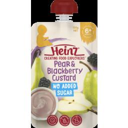 Photo of Heinz® Pear & Blackberry Custard 120g 6+ Months 120g