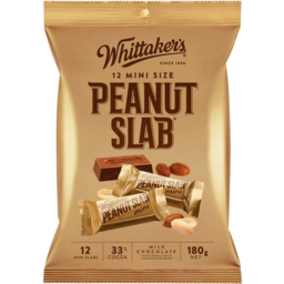 Photo of Whittakers Whittaker's Peanut Slab 12 Pack 180gm