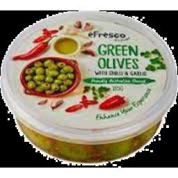 Photo of E/Fresco Green Olives/Garlic 185