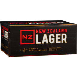 Photo of New Zealand Lager 330ml Cans 12 Pack