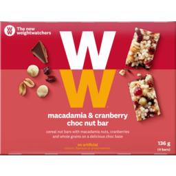 Photo of Weight Watchers Nut Bars Macadamia & Cranberry 136g