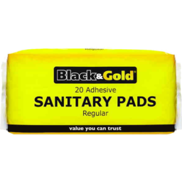 Photo of Black & Gold Adhesive Sanitary Pads Regular 20