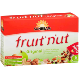 Photo of Sunbeam Fruit 'N'ut Snacks Original 6 Pack 240gm