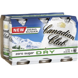 Photo of Canadian Club Zero Sugar Dry Cans