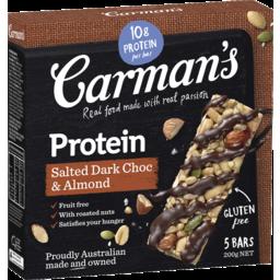 Photo of Carman's Salted Dark Choc & Almond Protein Bars 5.0x40g