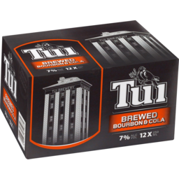 Photo of Tui Bourbon & Cola 250ml Cans 12 Pack