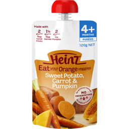Photo of Heinz Eat Orange Sweet Potato, Carrot & Pumpkin 120gm