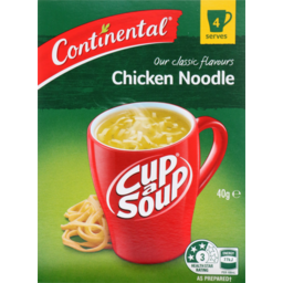 Photo of Continental Cup A Soup Classic Chicken Noodle 4 Pack 40g