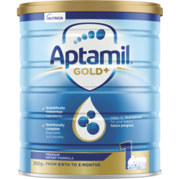 Photo of Aptamil Gold+ 1 Baby Infant Formula From Birth To 6 Months 900g
