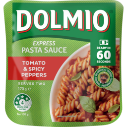 Photo of Dolmio Tomato & Spicy Peppers Express Pasta Sauce Pouch 170g