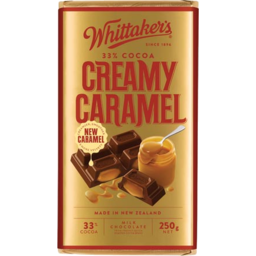 Photo of Whittaker's Creamy Caramel Milk Chocolate Block 250g