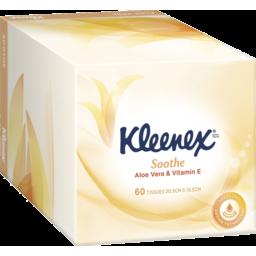 Photo of Kleenex Aloe Vera & Vitamin E Facial Tissues, 60 Sheets